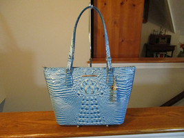 Authentic Brahmin Medium Asher Cerulean Melbourne Blue Embossed Leather NWT - $183.14