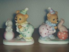 Homco Bear Clown Figurine Pair 8881 Home Interiors - $10.99