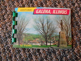 Old Vintage Historic Galena Illinois 10 Views Miniature Souvenir Booklet... - $9.99