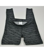 UNDER ARMOUR Favorite Printed BLACK Gray UA Striped 1300181 Leggings FIT... - $19.80