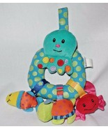 Infant Octopus Rattle Hanging Blue Squid Plush Sea Life Baby Toy - $17.82