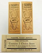 Vintage Gag Joke Theatre Tickets W Envelope 2 Toilet Seats Relief Theatr... - $9.99