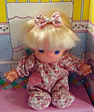 Precious Moments First Baby blonde Doll 1992 removable clothes nursery H4