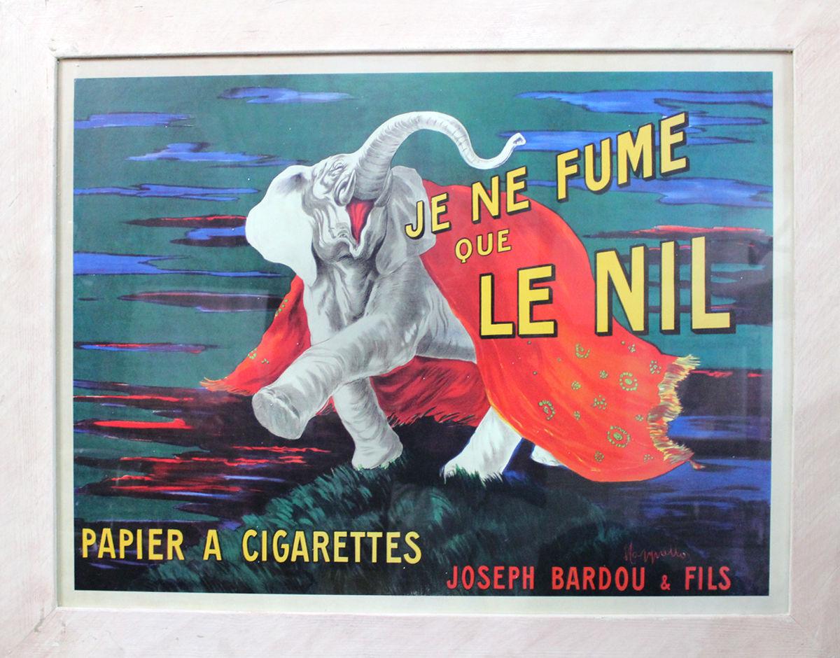 Vintage French Poster for Cigarettes, Je ne Fume que LE NIL, VGC, 50 x 80 cm - $151.90