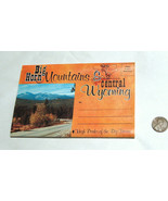 VTG Unused 1960's Big Horn Mountains & Central Wyoming Fold Out Album Po... - $13.94