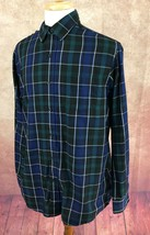 Chaps Easy Care Twill Ralph Lauren Button Down Black Plaid Shirt Men's L - $19.07