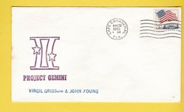 PROJECT GEMINI VIRGIL GRISSOM & JOHN YOUNG CAPE CANAVERAL MARCH 23 1965  - $2.98