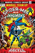 "Marvel Team-Up ""Spiderman And The Inhumans 24 X 36 Reproduction Poster - $50.00"