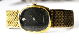 Vintage Longines 3066-528 10k GF Gold Filled Black Diamond Dial Wristwatch 27mm - $148.49