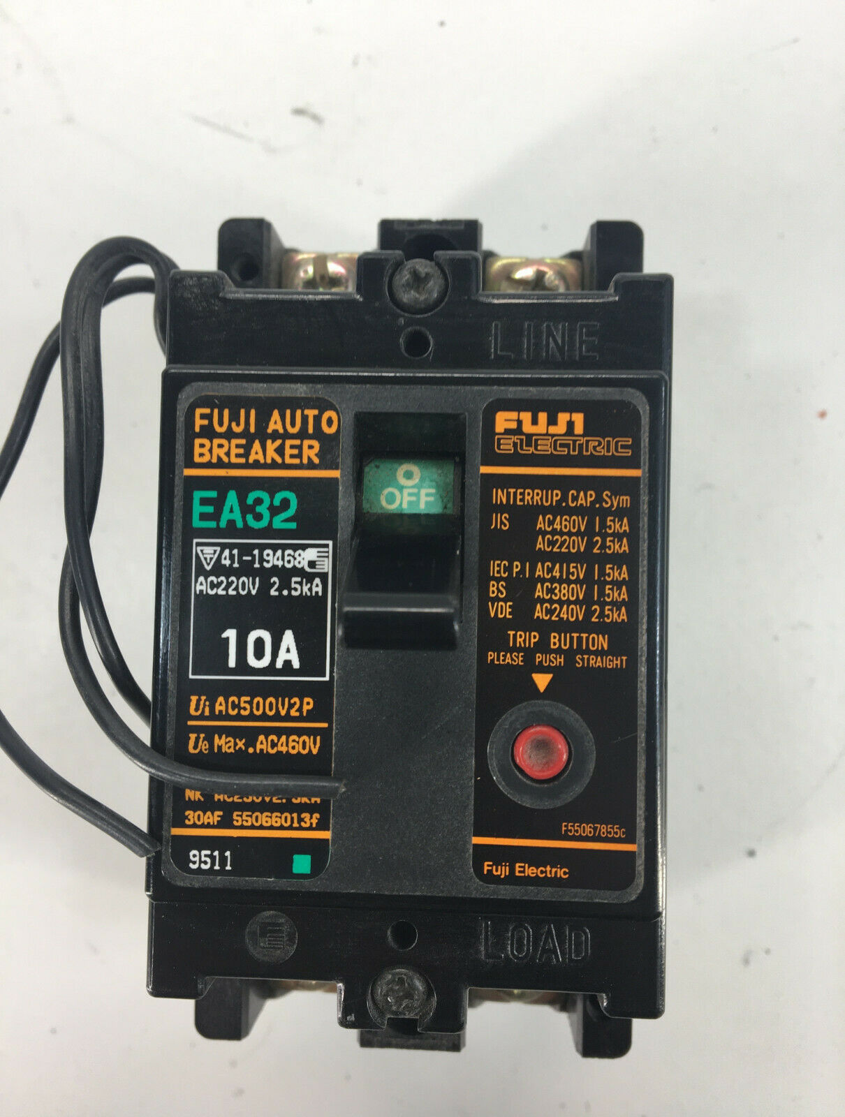 Primary image for Fuji EA32 Breaker 10A 2Pole w/Alarm Switch
