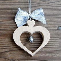 Wooden Alpine Heart with Crystal, Valentine's Day Gift for Women, Mother's Day g - $17.95+