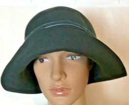 Ignatius Women's Wool Felt Hat with Ribbons and Large Button Accents - $98.18