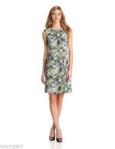 Adrianna Papell Contrast Piping Fit & Flare Dress Chartreuse Size 10 NWT - $38.32