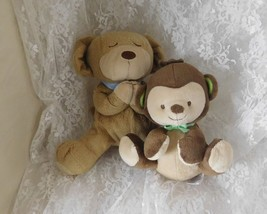 Fisher Price Monkey & Dog Plush Toys - Lot of 2 Soft Baby Toys - $8.59