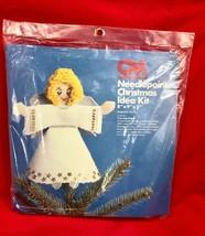Columbia Minerva Christmas Kit 8230 TREE TOP ANGEL Plastic Canvas NOS NEW - $34.65