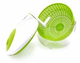 Salad Spinner Dyer Drainer 3QT Holder Server Bowl Colander Basket Compac... - $35.44