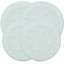 Range Kleen 5057 Set of 4 Round Ivy Embossed White Burner Kovers with 2 ... - $21.00
