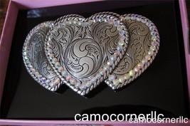 Nocona  BLAZIN ROXX  RHINESTONE COWGIRL Belt Buckle with THREE HEARTS 37534 - $19.80