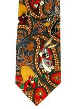 Looney Tunes Necktie with Bugs Bunny, Daffy,Yosemite, Marvin, Taz, Speed... - $9.99