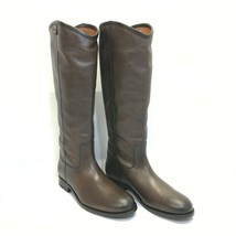 Frye Leather Tall Shaft Boots - Melissa Button 2, Smoke, US Size 8 M (A3... - $134.99