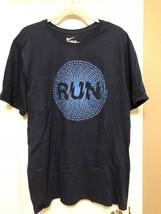 "Nike Run T-Shirt Size  2XL  XL  Regular Fit Grey Blue GRAPHIC PRINT ""RUN"" - $19.99"