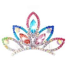 Elegant Plate Hair Comb Crystal Crown Bridal Headdress