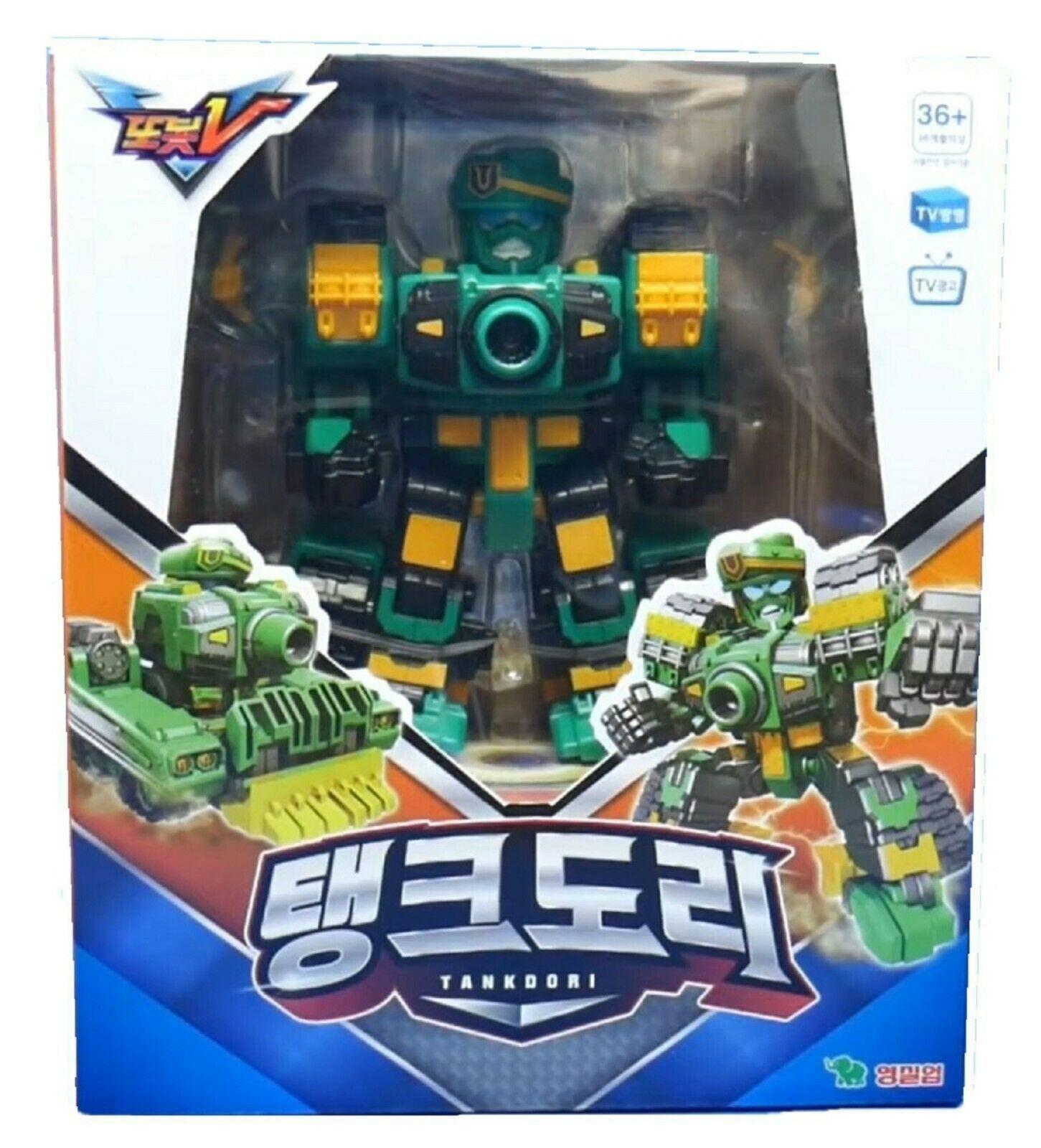 Tobot V Tankdori Transformation Action Figure Robot Vehicle Tank Toy