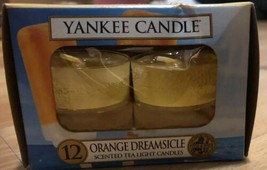 Yankee Candle 8 Scented Tea Light T/L Box Candles ORANGE DREAMSICLE - $19.79