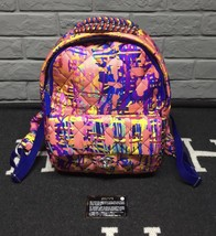 BRAND NEW AUTH CHANEL RUNWAY PAINT SPLATTER PINK MULTICOLOR QUILTED BACKPACK  image 3