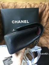 Authentic NEW Chanel Black Jumbo Caviar Double Flap Bag Silver Hardware Receipt image 4