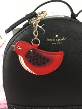 KATE SPADE NEW OOH LA LA LEATHER BIRD KEY RING FOB RED WITH DUST BAG - $35.00