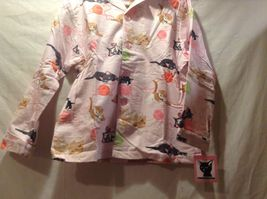 NEW The Cats Pajamas Thick Pant w Long Sleeve Top Cat Themed Set Sz S image 3