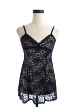 Womens Gilligan & O'Malley Black Lace Camisole M Cami - $17.28