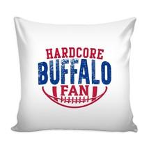 Hardcore Buffalo Football Fan Throw Pillow Sham Cover (D) - $18.76