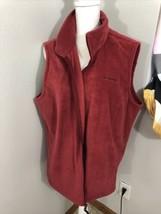 Columbia Fleece Vest Men's Size 2XL Full Zip Red Maroon - $19.79