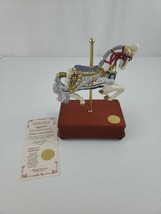 "Heritage House Carousel Horse Music Box ""Napoleon"" Song: Over The Rainbow COA - $35.00"