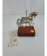 """Heritage House Carousel Horse Music Box """"Napoleon"""" Song: Over The Rainbo... - $35.00"""