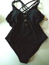 Bar III Black Sunset Solids One Piece Swim Wear Size Medium image 1