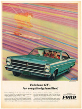 Vintage 1966 Magazine Ad Ford Fairlane GT Strength Practicality Room And Comfort - $5.93