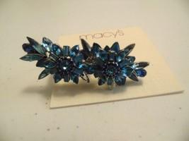 Macys blue flower two fingered size  6/9  ring  H101 - $9.59
