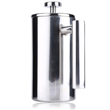800ML Stainless Steel Insulated Coffee Tea Maker with Filter Double Wall - $42.74