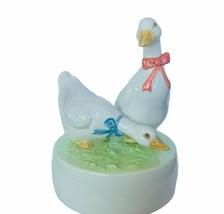 Otagiri music box geese goose Do Re Me Japan Sound Music figurine Moving... - $62.89