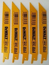 "Dewalt DW4813 6"" x 24 TPI Straight Back Bi Metal Reciprocating Saw Blade... - $5.94"