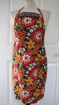 NWOT Vera Bradley Red Yellow Floral Bittersweet 100% Cotton Apron - $23.76