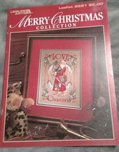 MERRY CHRISTMAS COLLECTION Counted Cross Stitch Pattern Booklet 2691 San... - $10.84