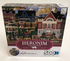 Heronim Collection Sure-Lox 500 Pc Jigsaw Puzzle 4Th of July at Camden NEW - $13.09