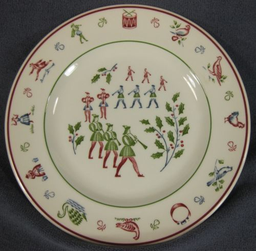 Eleven Pipers Piping Salad Plate Johnson Brothers Twelve Days of Christmas