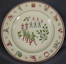 Eleven Pipers Piping Salad Plate Johnson Brothers Twelve Days of Christmas  image 1