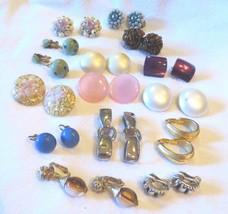 Vtg Jewelry Lot Earrings 14 Pairs Crown Trifari Japan Moonglow Richelieu Lucite - $100.00