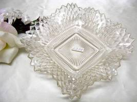 2238 Antique Westmoreland English Hobnail Square Low Candy Dish - $6.00